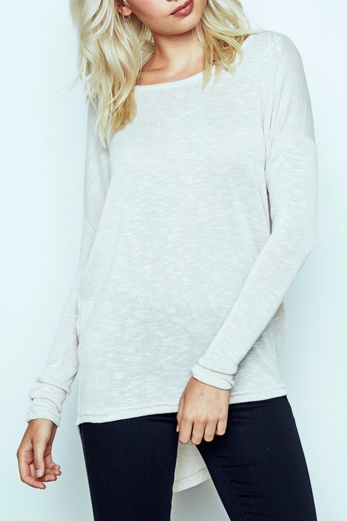 MARLED HIGH LOW KNIT TOP