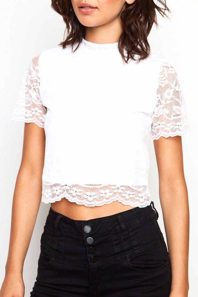 LACE OVERLAY SKIMMER TOP