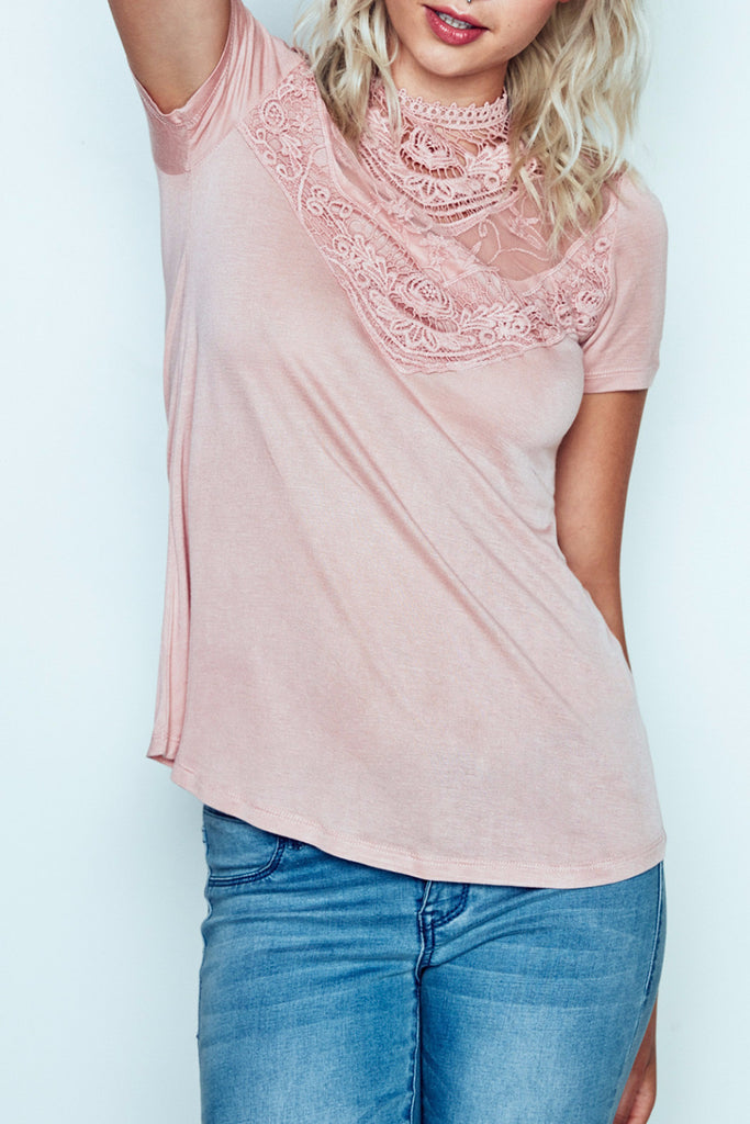 LACE & CROCHET DETAILED TOP