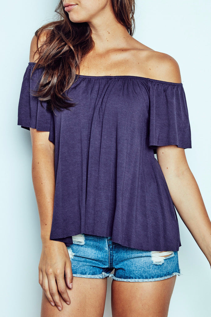 OFF THE SHOULDER RELAXED FIT TOP