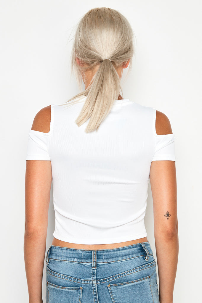 COLD SHOULDER SKIMMER TOP