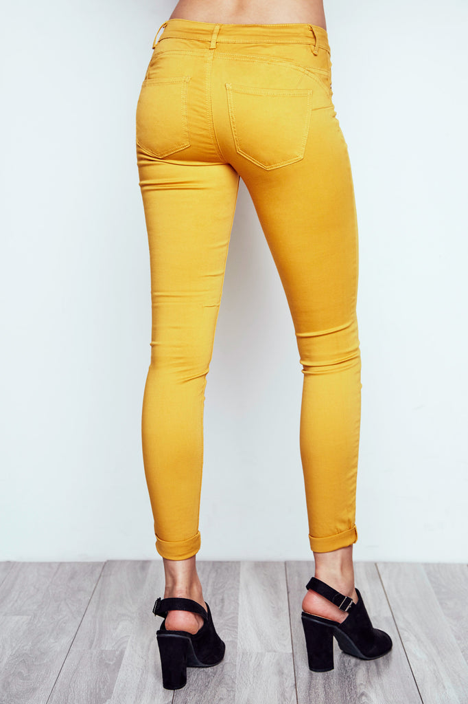 MUSTARD RIO LOW RISE ESSENTIAL BUTT LIFT JEAN