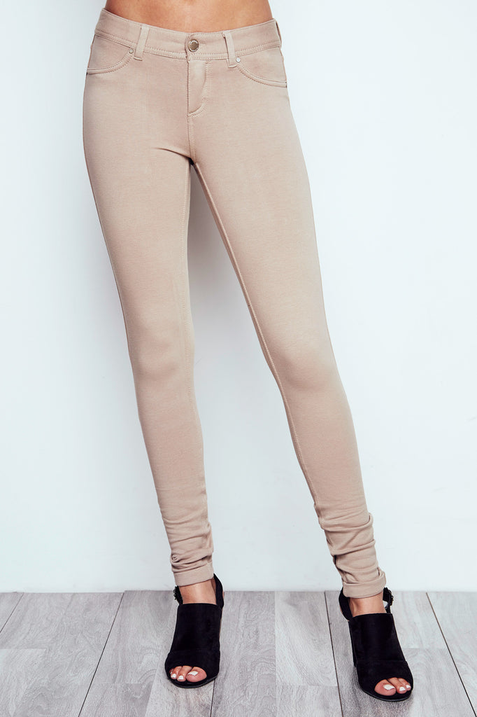 TAN LONDON LOW RISE SKINNY JEAN