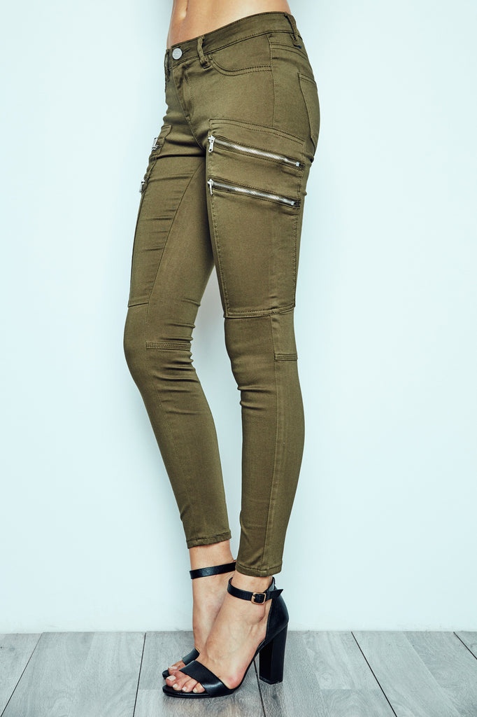 LOW RISE SIDE ZIP PANT - STYLE STEALS