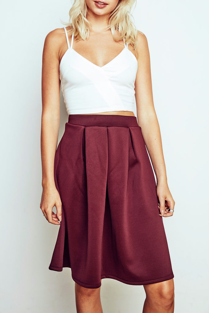 FLARED MIDI SKIRT - PROMO 50% OFF