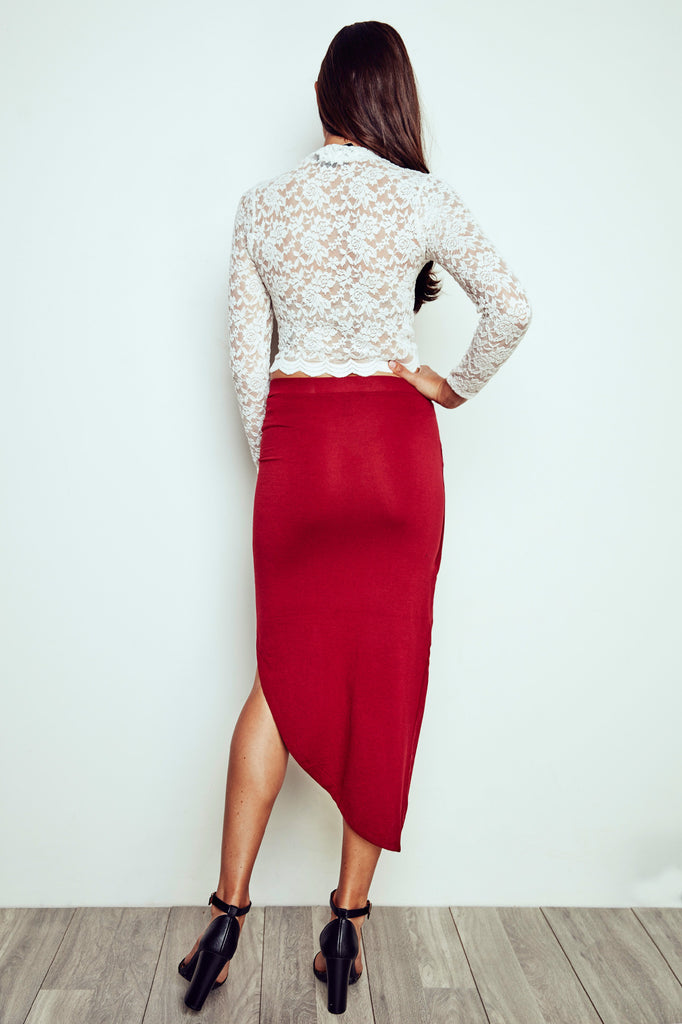 ASYMMETRICAL WRAP SKIRT - PROMO 50% OFF