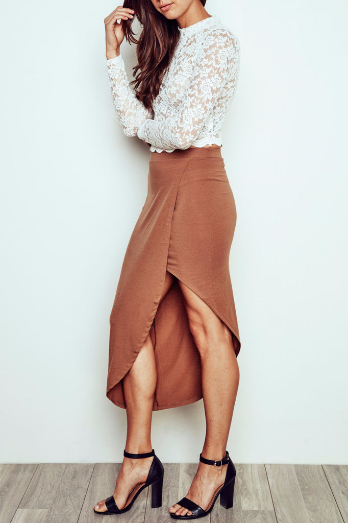 ASYMMETRICAL WRAP SKIRT - PROMO 60% OFF