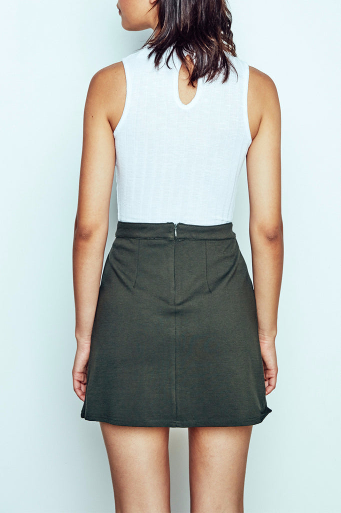 DOUBLE POCKET A-LINE MINI SKIRT - PROMO 60% OFF