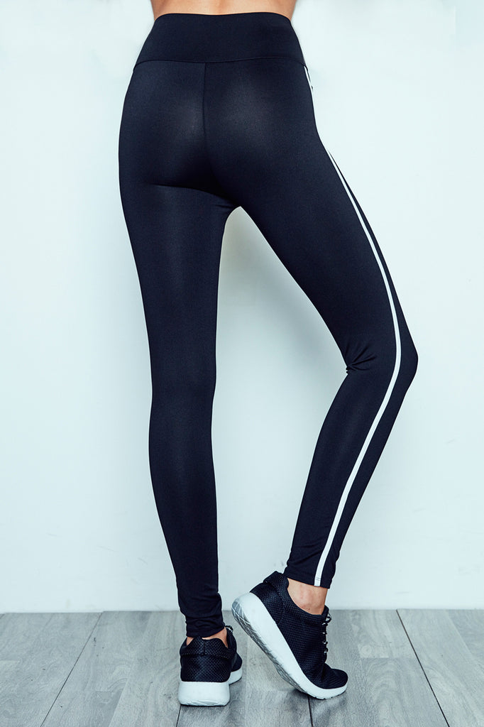 CONTRAST TRIM HIGH RISE LEGGING