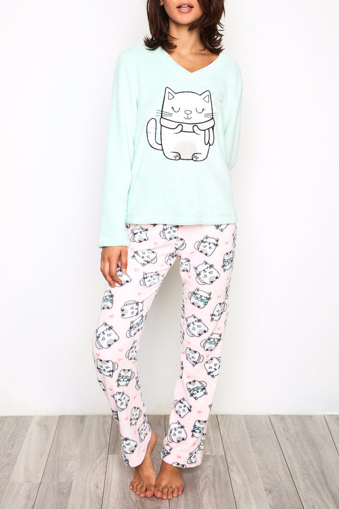 PLUSH CAT PYJAMA SET