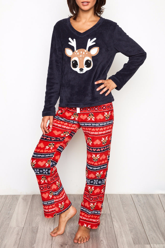 PLUSH DEER PYJAMA SET