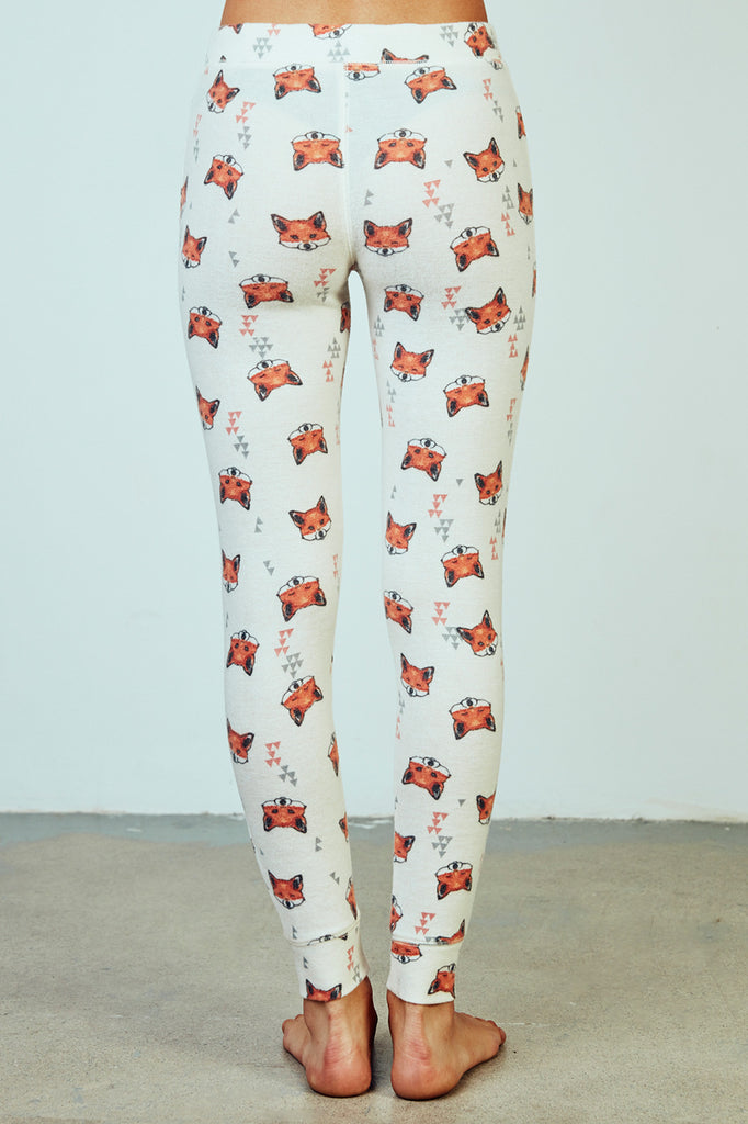 FOX PRINT PYJAMA BOTTOM