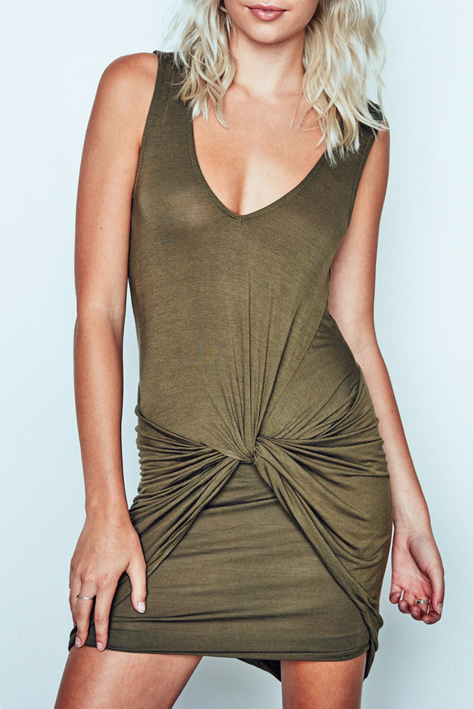 KNOT FRONT SHIFT DRESS