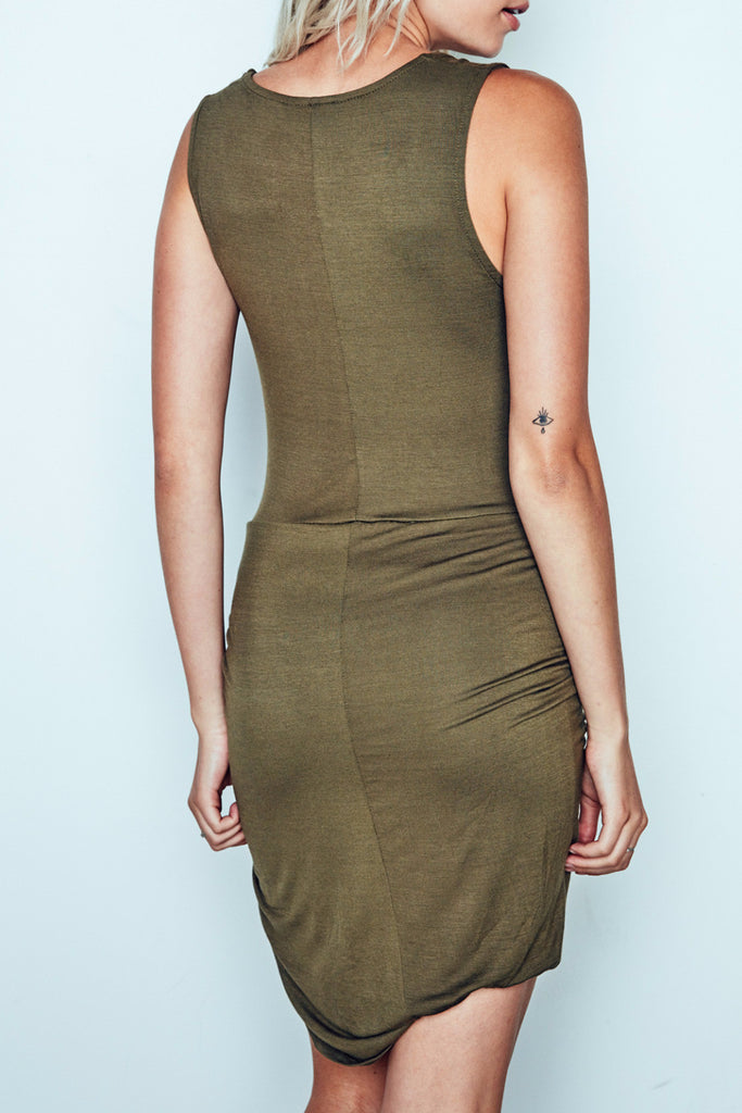 KNOT FRONT SHIFT DRESS - PROMO 60% OFF