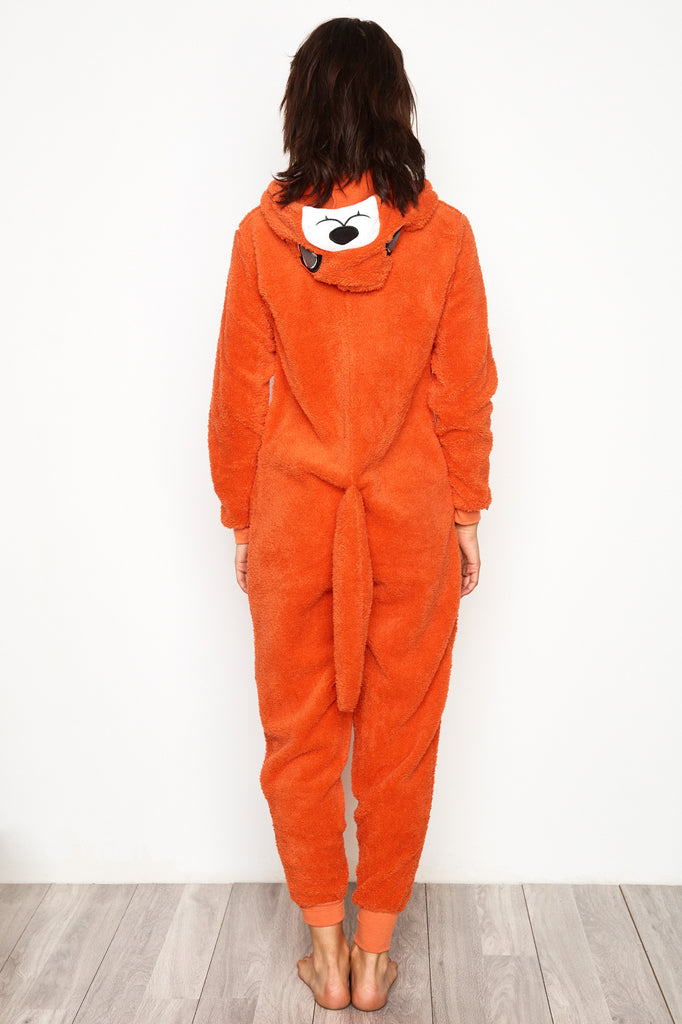 FOX PLUSH ZIP-UP ONESIE