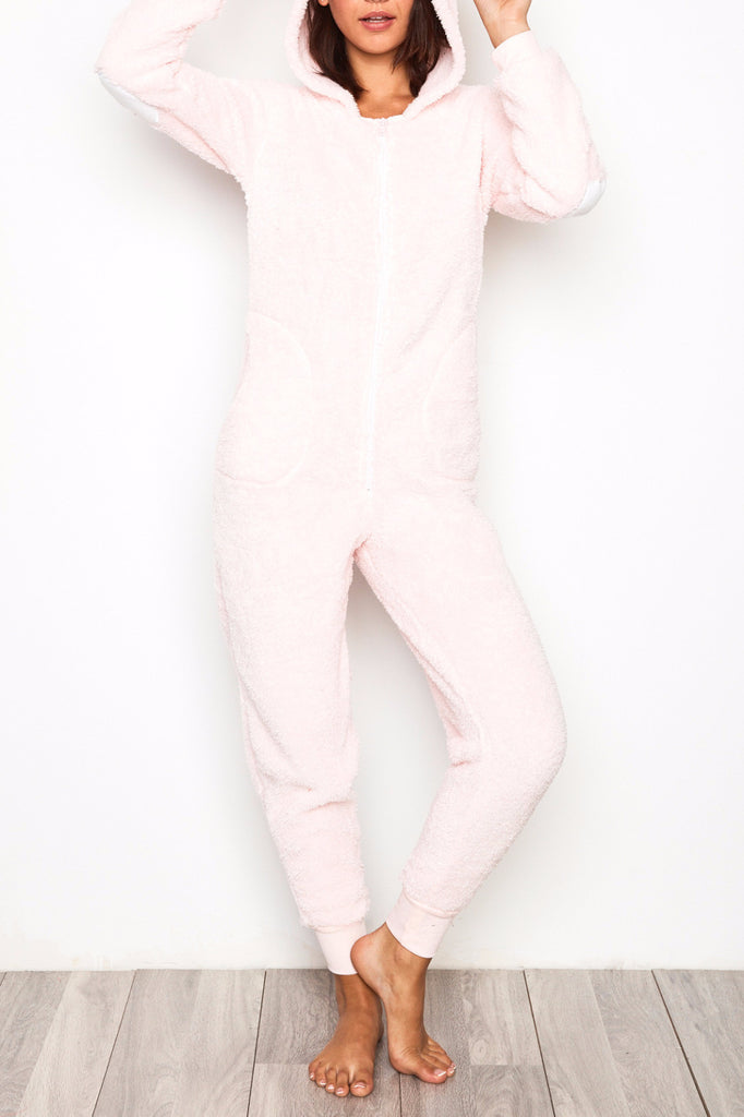BUNNY PLUSH ZIP-UP ONESIE