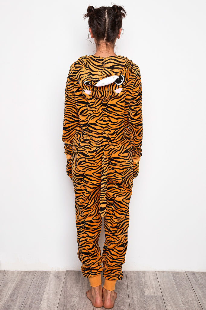TIGER PLUSH ZIP-UP ONESIE