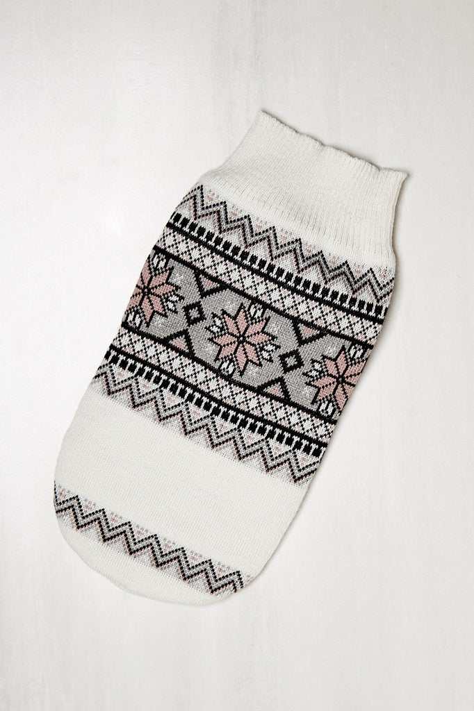 FAIR ISLE PRINT KNIT PET SWEATER - HOLIDAY