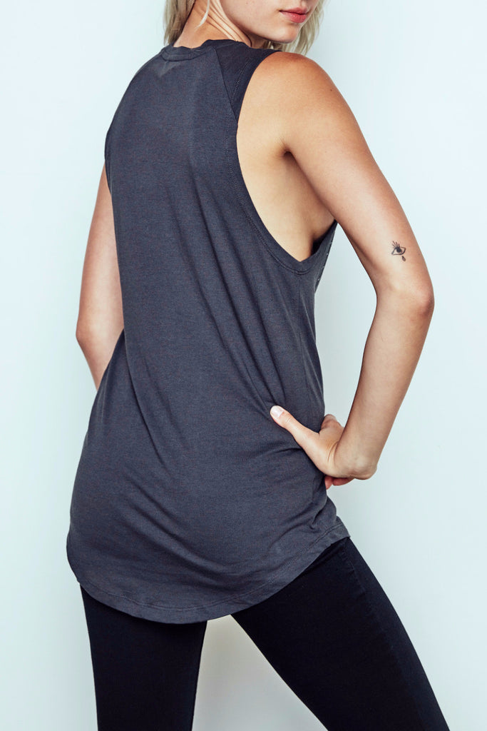 OWL GRAPHIC LONGLINE TANK - PROMO 50% OFF