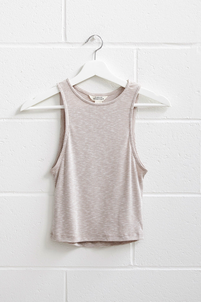 MARLED RIBBED KNIT CROP TANK - PROMO 50% OFF