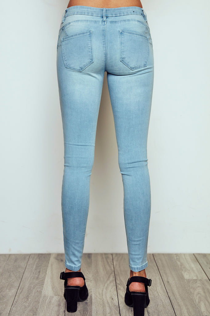 LONDON LOW RISE FADED SKINNY JEAN