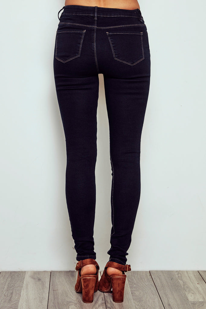 MIAMI HIGH RISE DARK WASH SUPER SKINNY JEAN