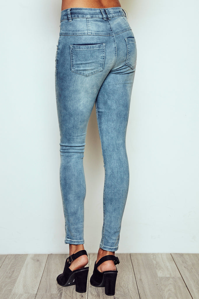 VIENNA HIGH RISE ACID WASH SKINNY JEAN - STYLE STEALS ITEM