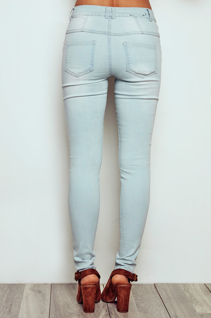 VIENNA HIGH RISE BLEACHED SKINNY JEAN - STYLE STEALS ITEM