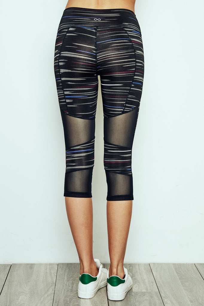 MESH PANEL ENERGY CROPPED LEGGING - PROMO 60% OFF
