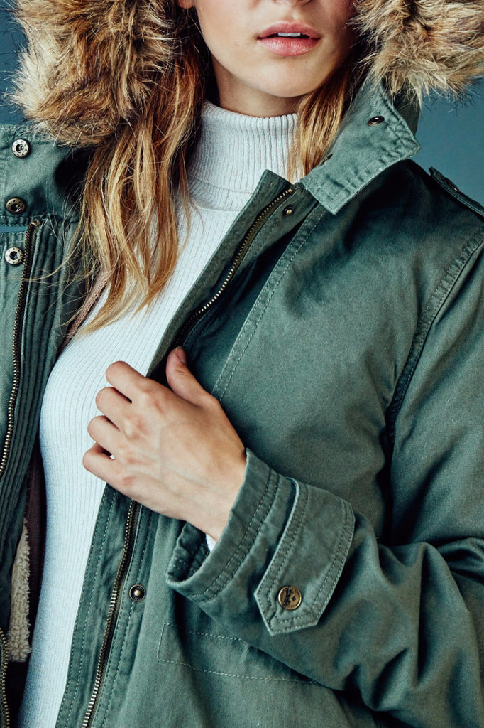 FAUX FUR TRIM ANORAK