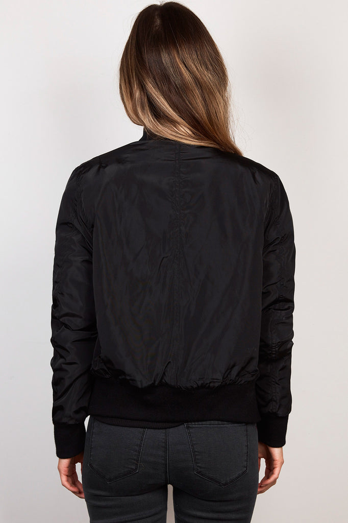 ZIP-UP PLUSH-LINED BOMBER JACKET