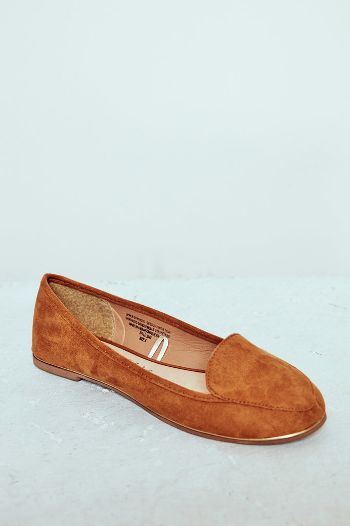 FAUX SUEDE ROUND TOE LOAFER