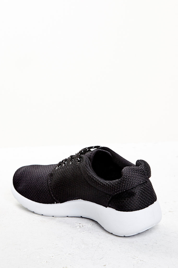 MESH FAUX LEATHER SNEAKER