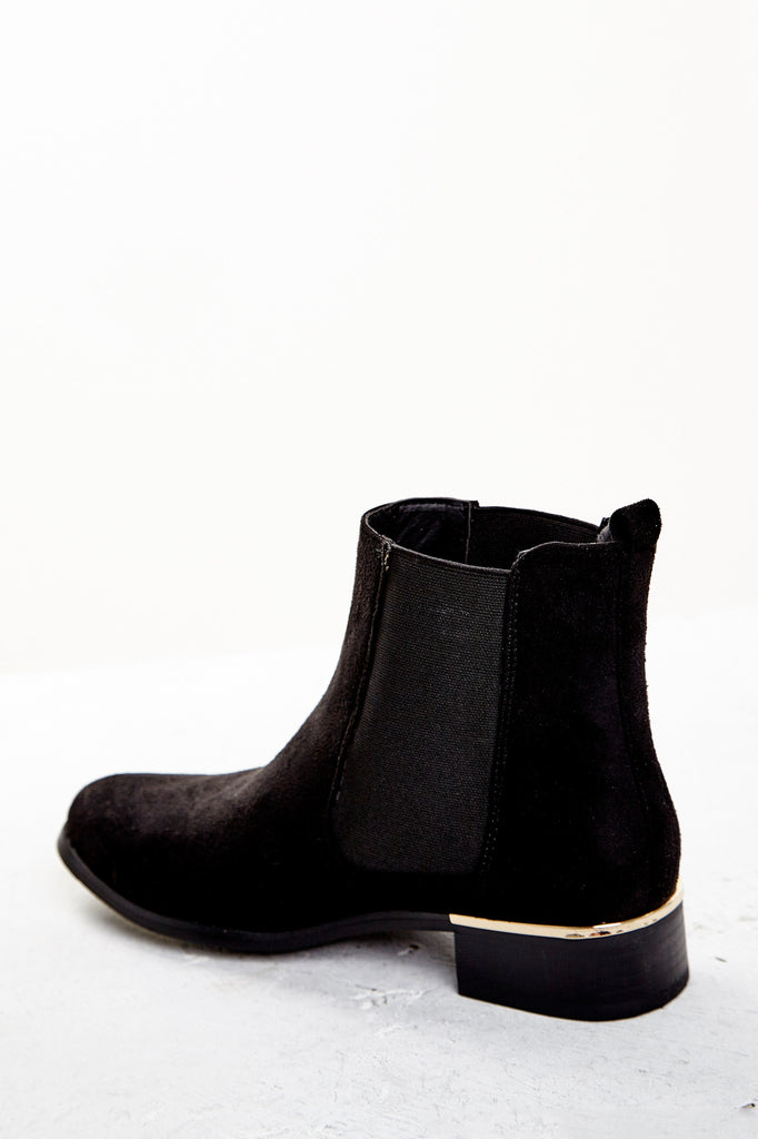 FAUX SUEDE STRETCH ANKLE BOOT