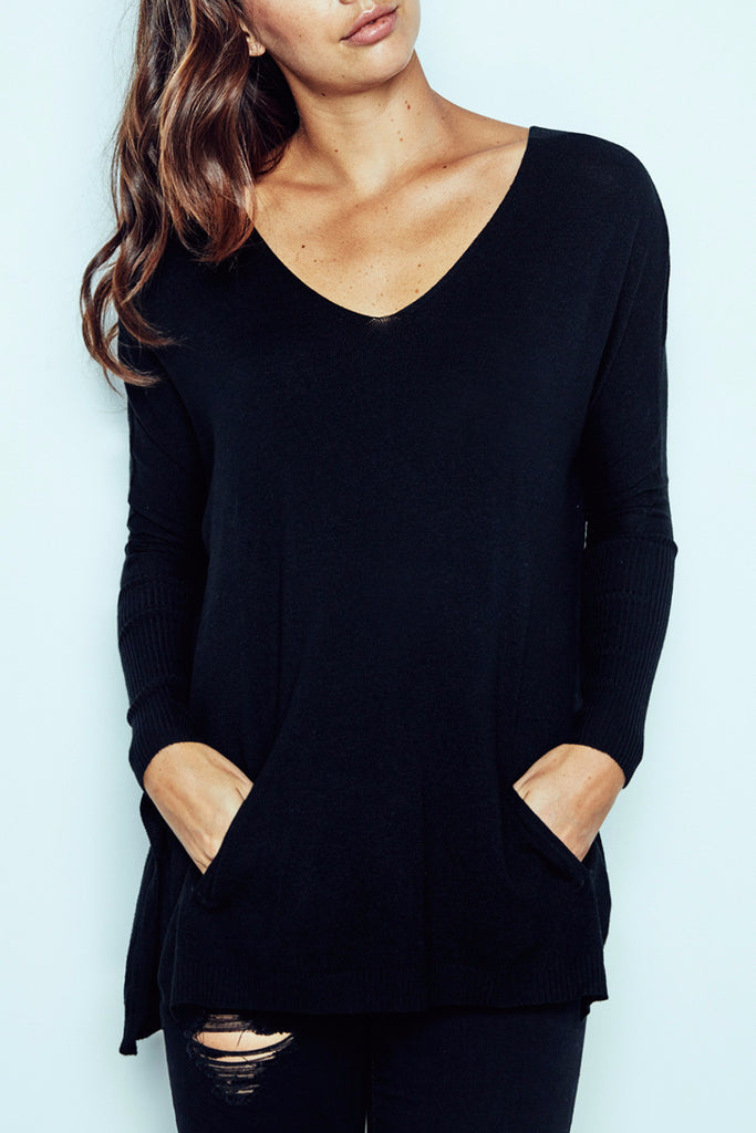 OVERSIZED DOLMAN POCKET TOP