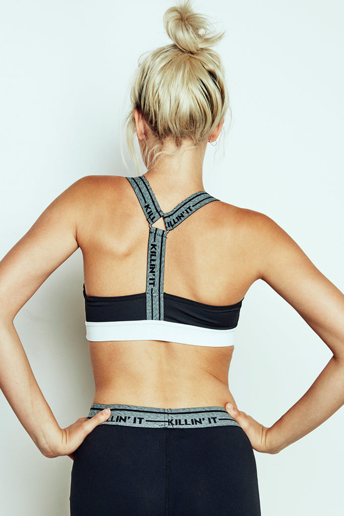 KILLIN' IT GRAPHIC WARRIOR SPORTS BRA