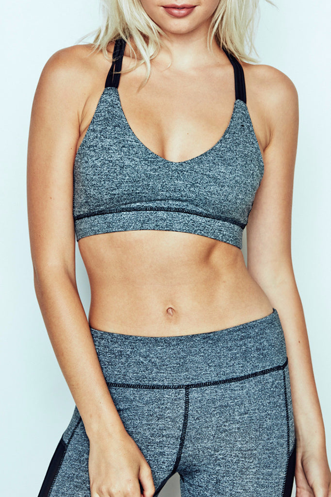 MARLED MESH PANEL STRAPPY SPORTS BRA