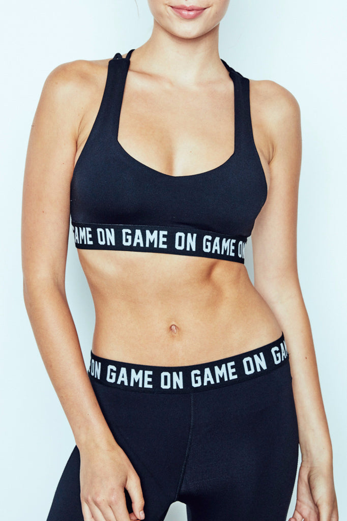 GAME ON GRAPHIC SERENITY SPORTS BRA