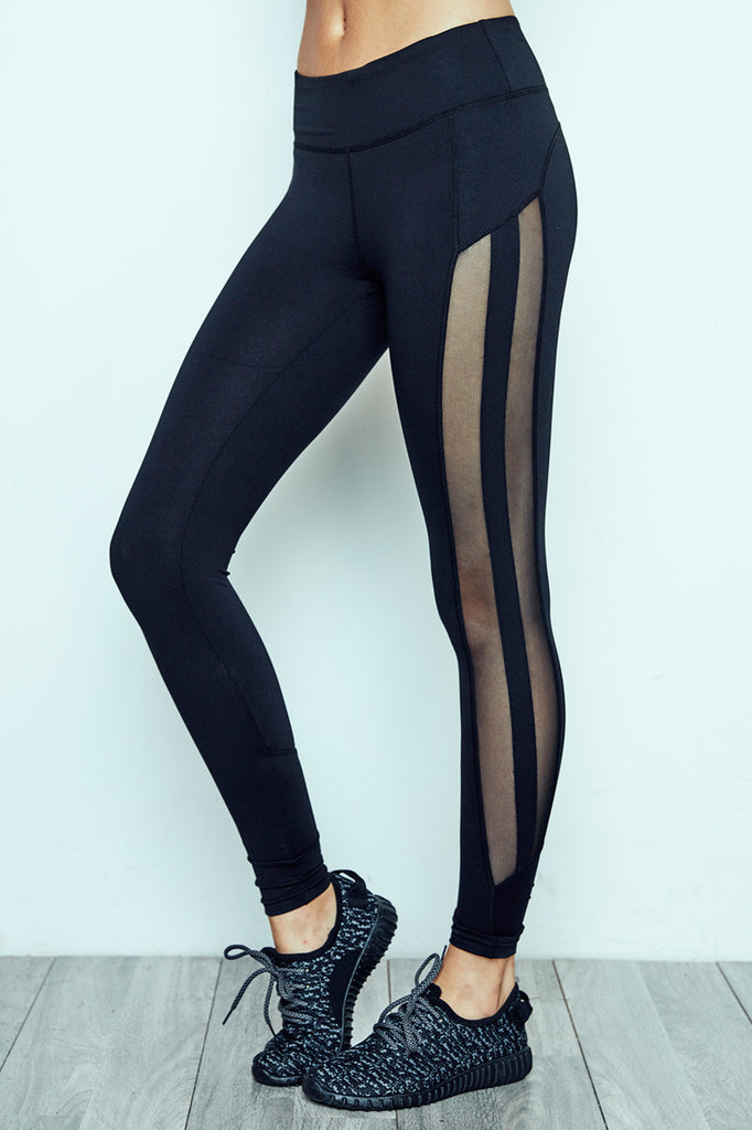 MESH STRIPED ENERGY LEGGING