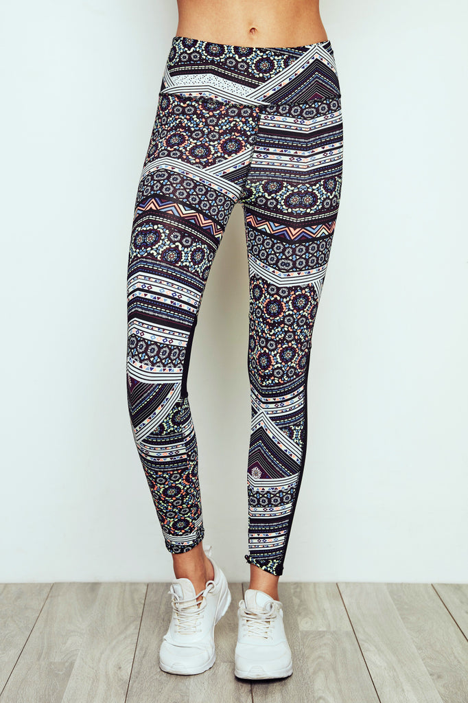 PRINT MESH PANEL HIGH RISE LEGGING