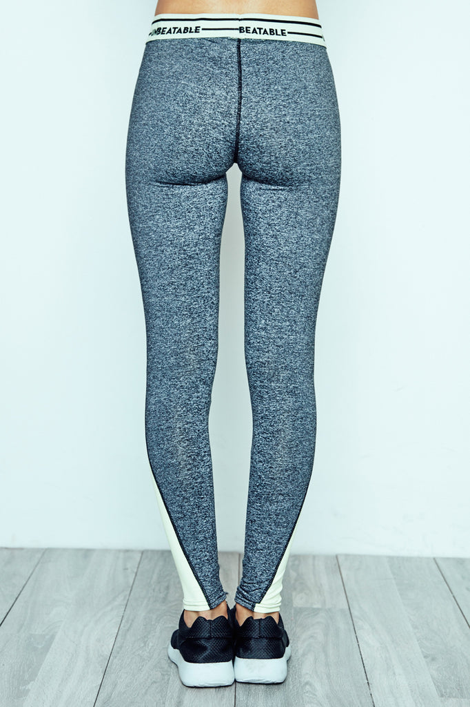 GRAPHIC WAISTBAND MARLED LEGGING