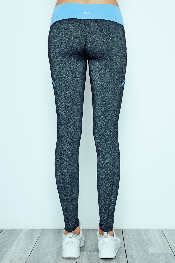 COLOR BLOCKED MARLED ENERGY LEGGING - PROMO 60% OFF