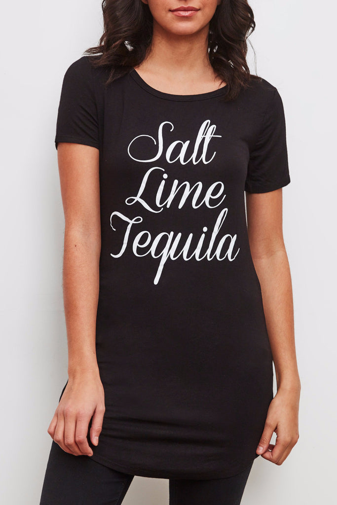TEQUILA GRAPHIC LONGLINE TEE - SALE