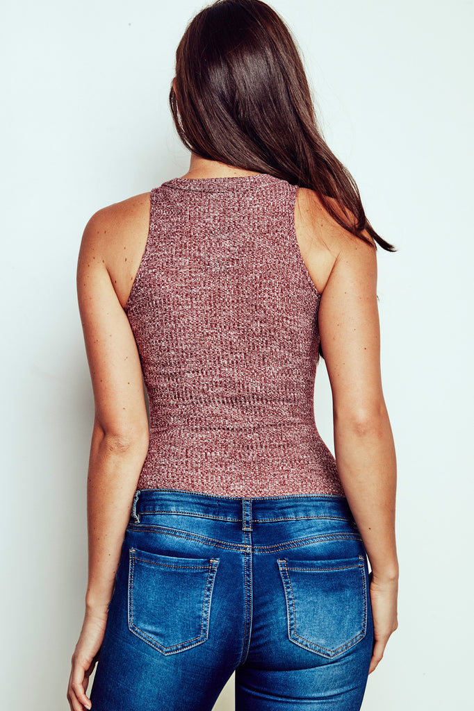 MARLED RIBBED KNIT BODYSUIT