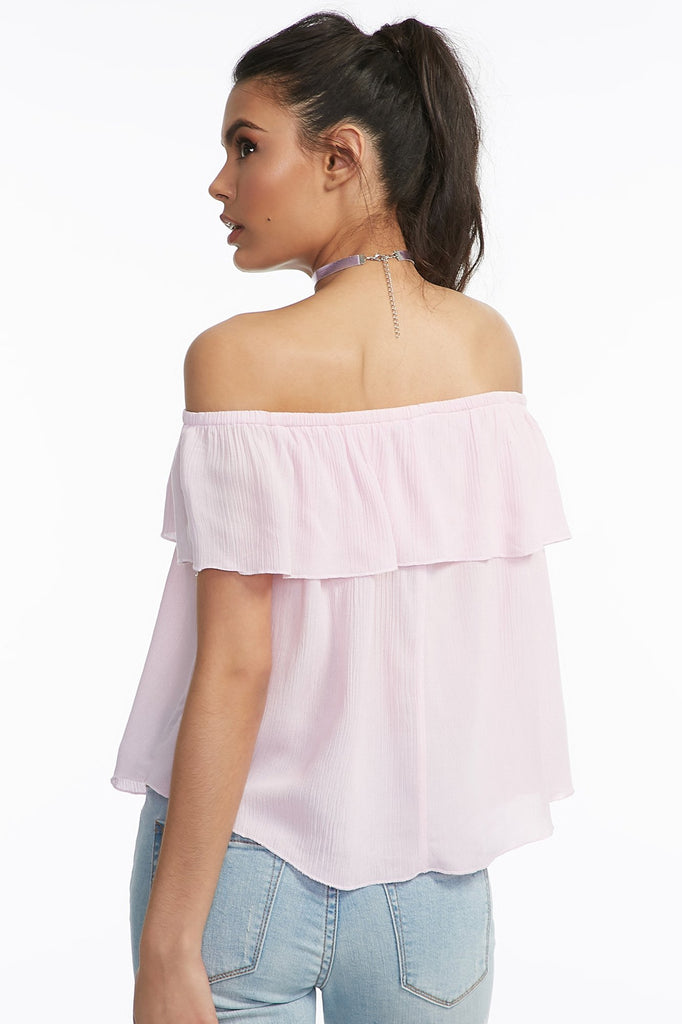 Woven Off The Shoulder Blouse