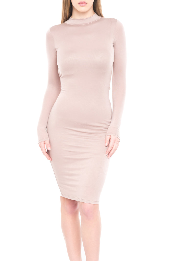 OPEN BACK BODYCON MIDI DRESS - SALE