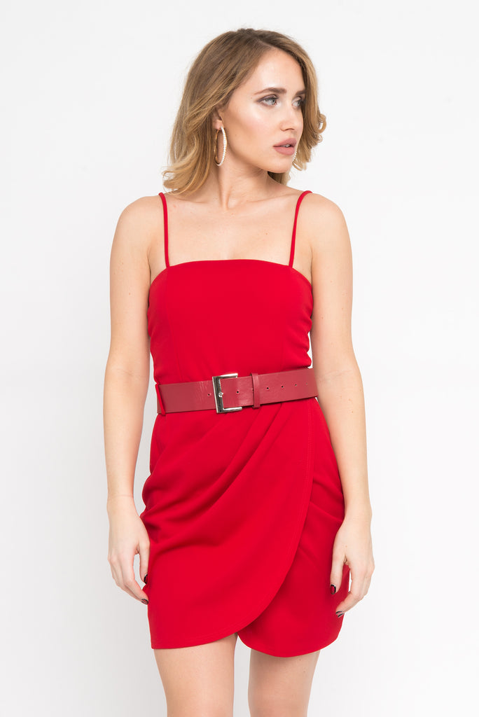 Belted Front Detail Dress
