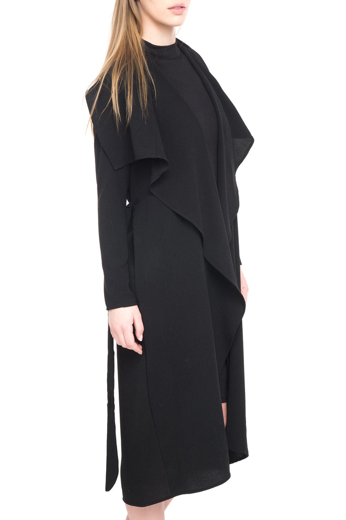 LONG DUSTER WITH CASCADING FRONT - SALE