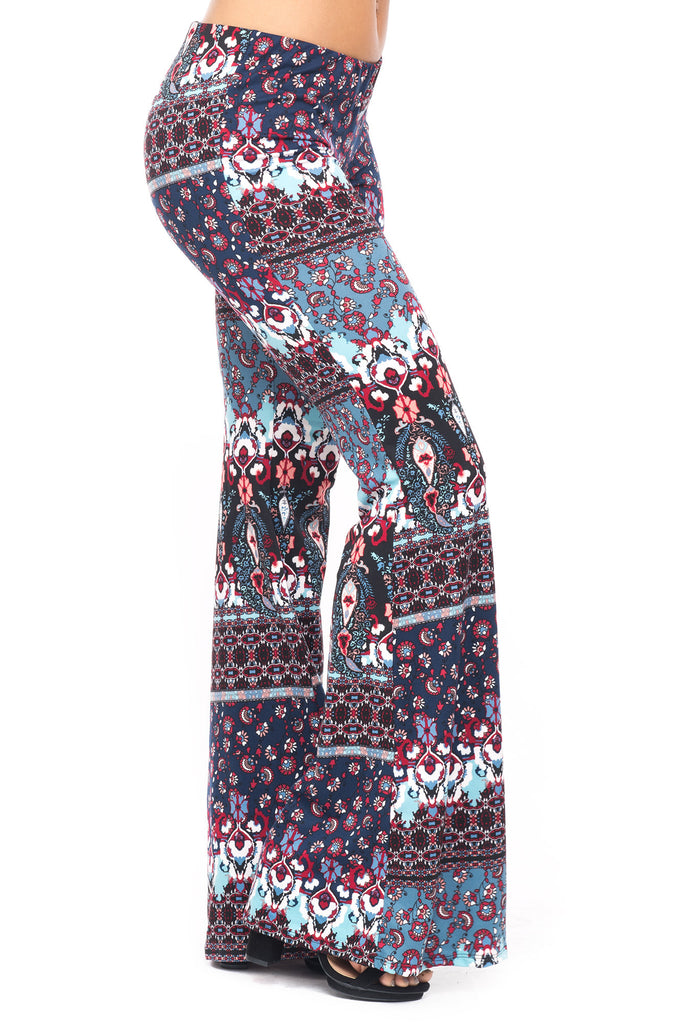 PRINTED BELL BOTTOM PANT - LA*