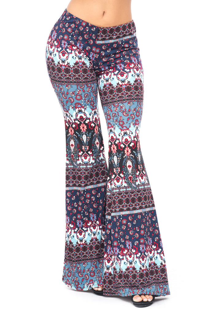 PRINTED BELL BOTTOM PANT - SALE